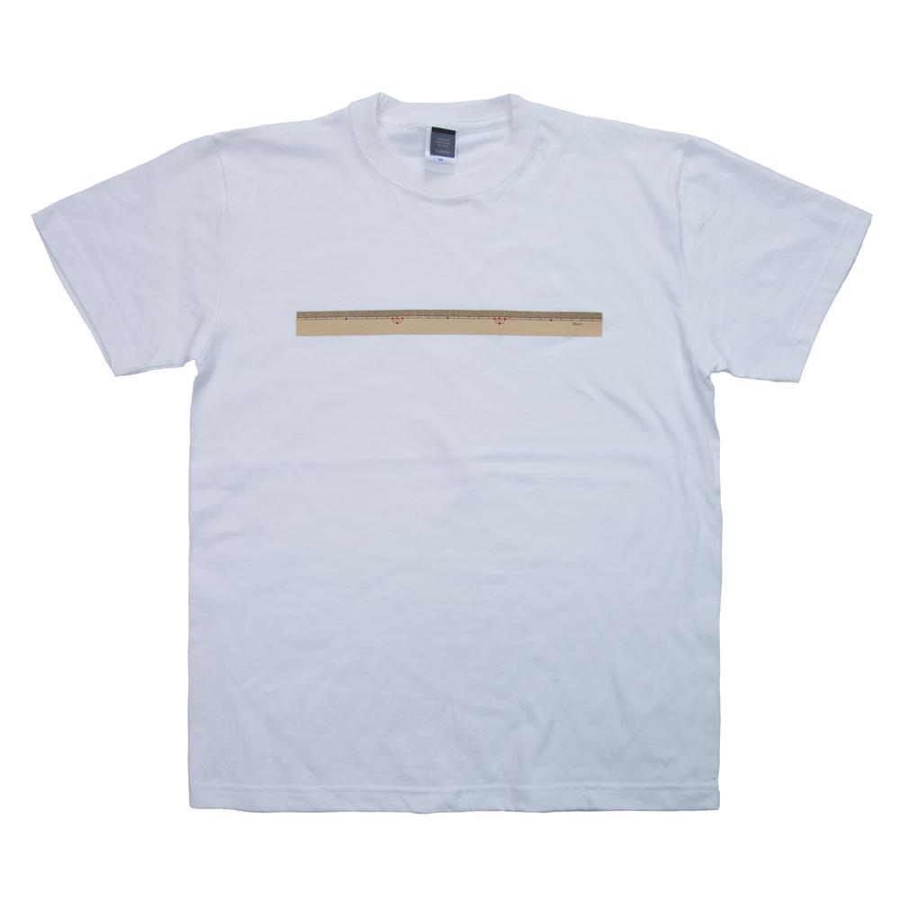 着る文具 30cm物差し Tシャツ