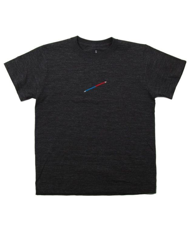 赤青鉛筆 刺繍 Tシャツ