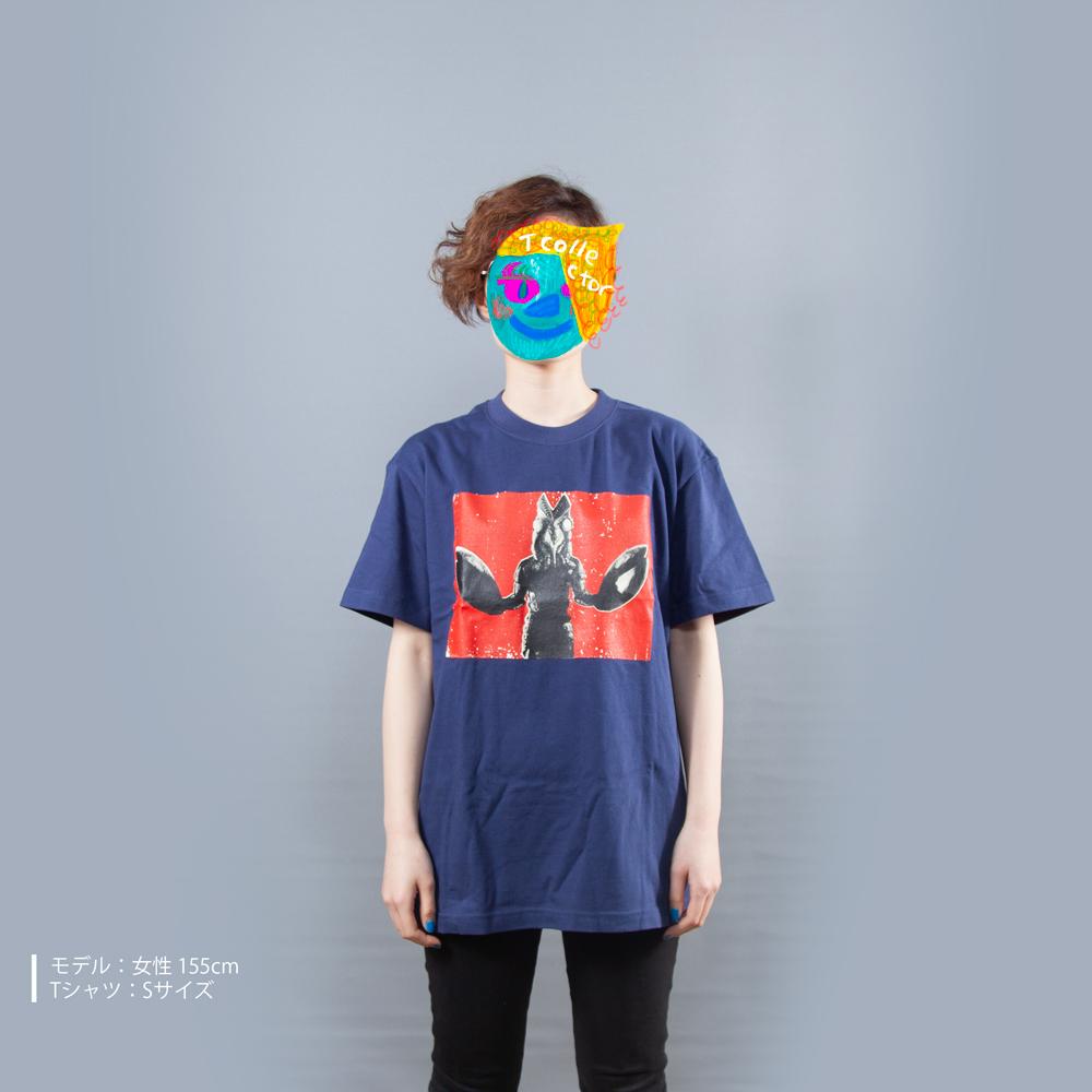 ウルトラマンシリーズ バルタン 星人 プリント Tシャツ 女性モデル正面