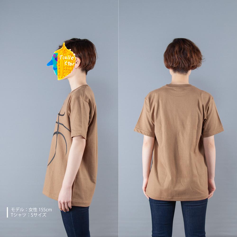 バスケットボールTシャツ女性モデル横後ろ