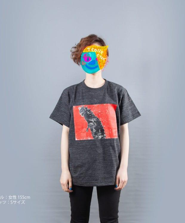 ウルトラマンシリーズ ベムラー グラフィック Tシャツ女性モデル正面