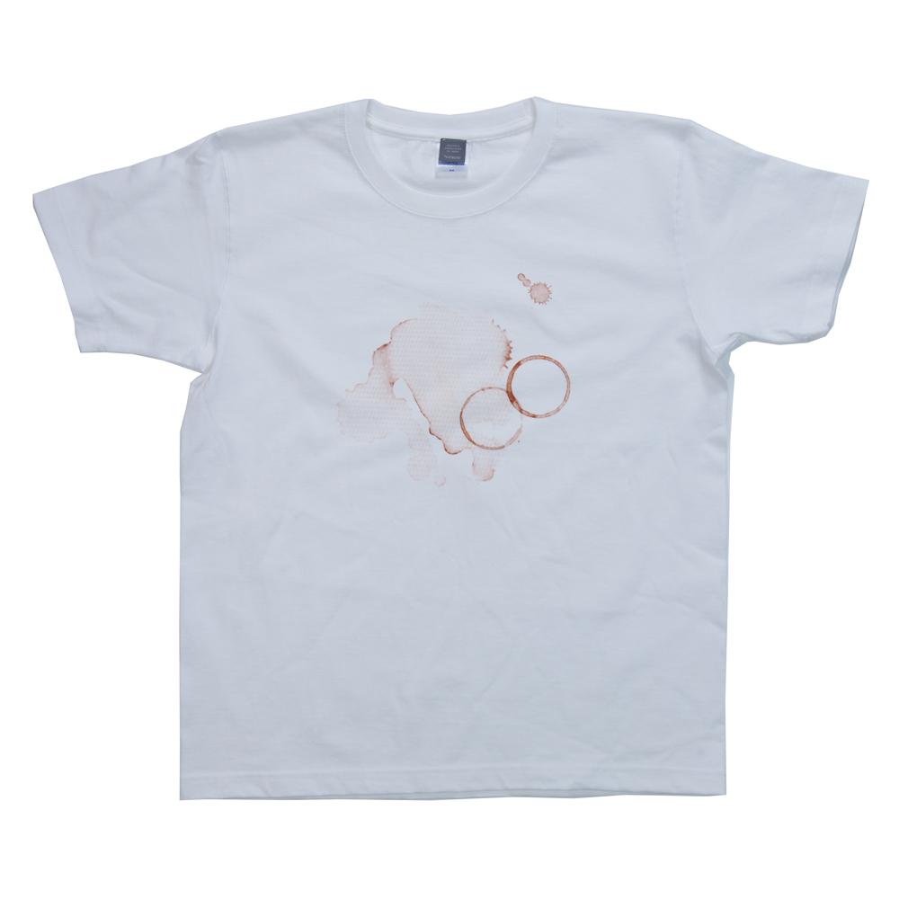 コーヒーの染み ユニセックス  プリント Tシャツ
