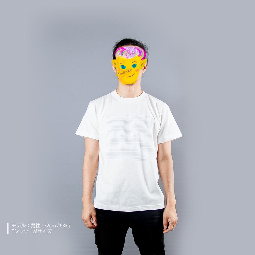 英語ノートTシャツ男性モデル正面