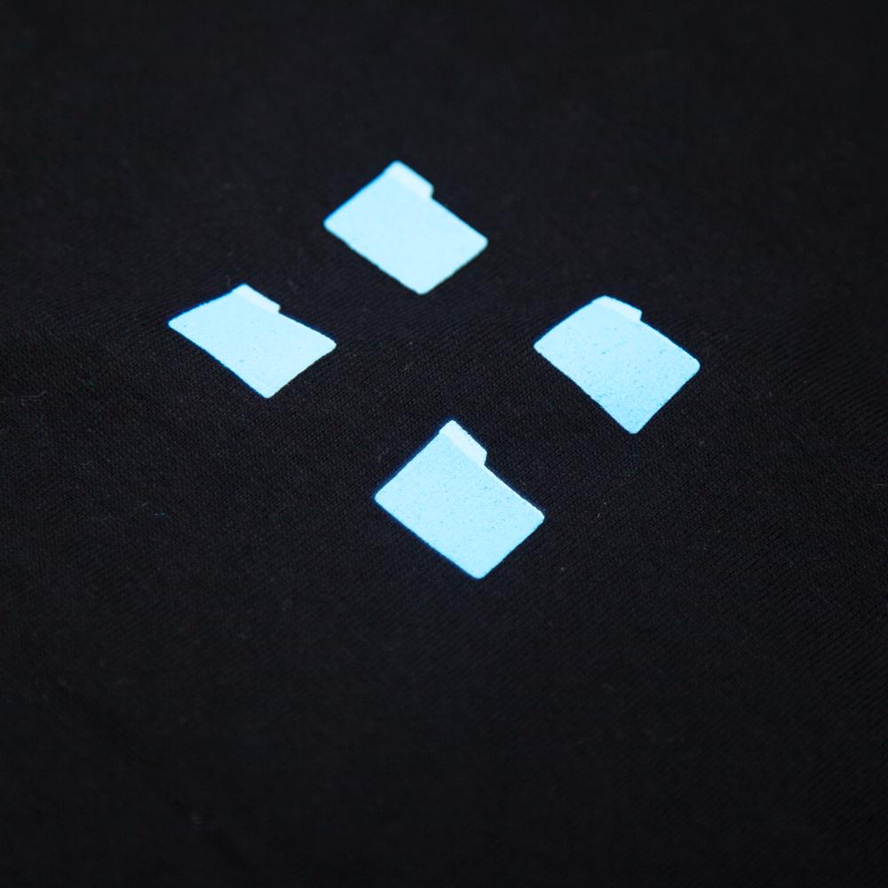 パソコンのFinder(フォルダ) Tシャツ シルクスクリーン印刷 拡大