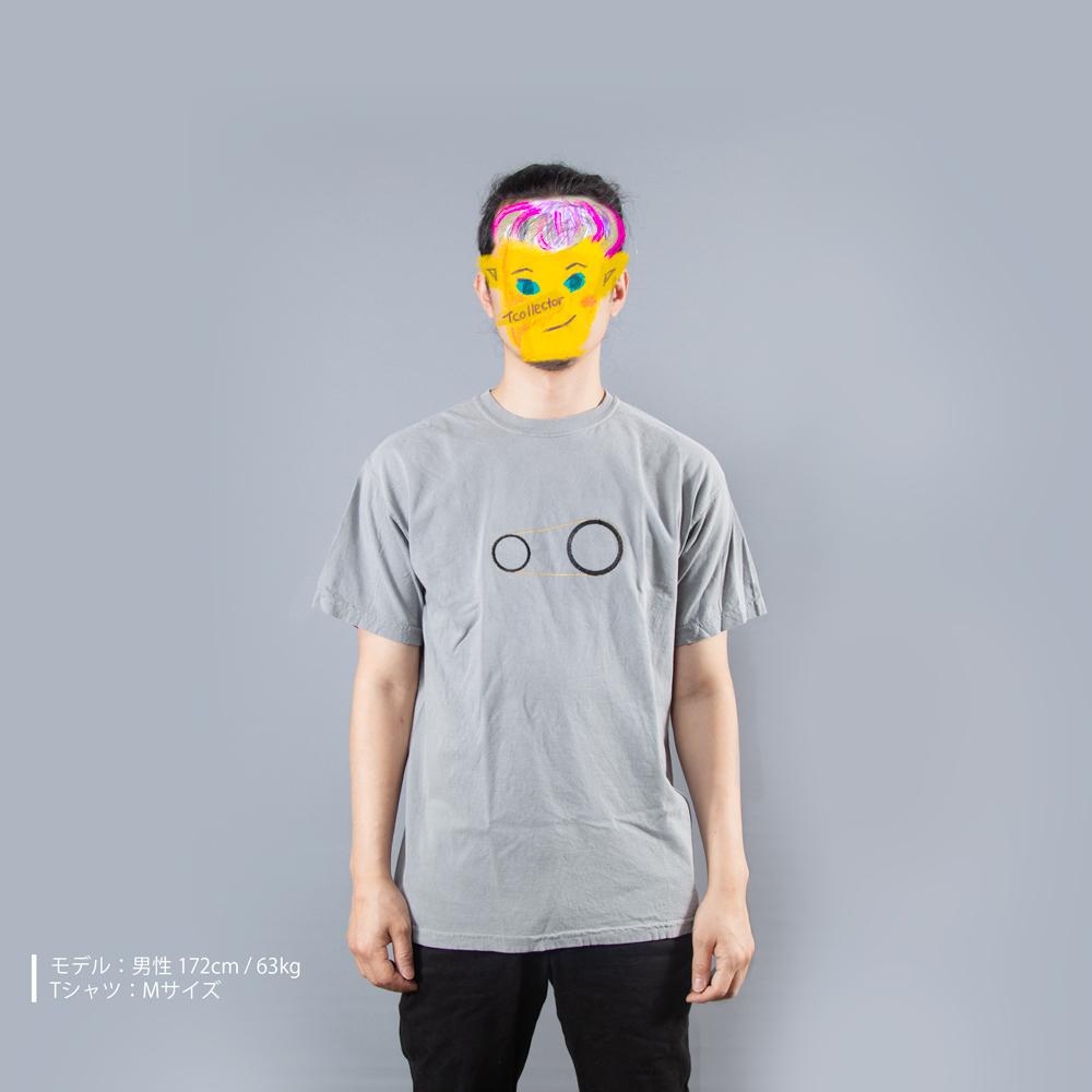 歯車Tシャツ男性モデル正面