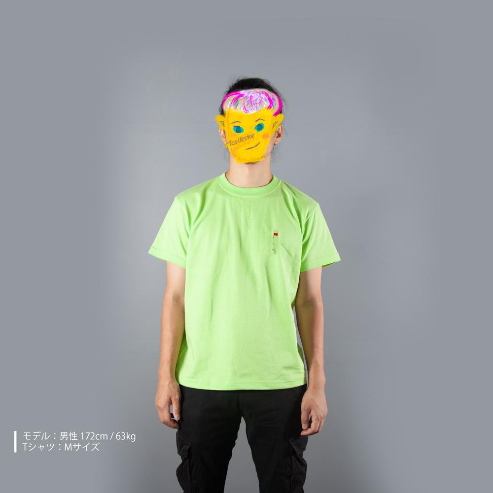 ホールインワン刺繍Tシャツ男性モデル正面