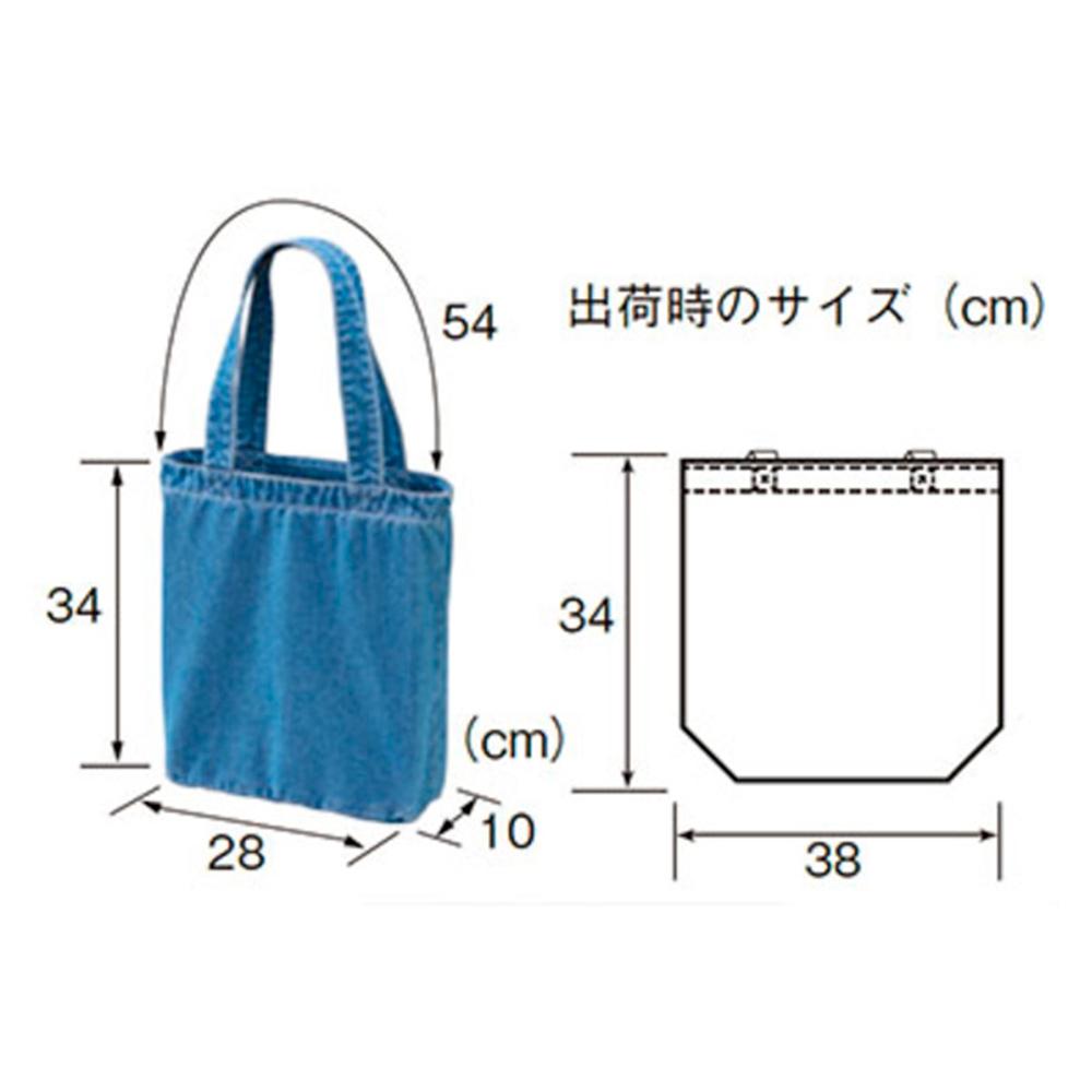赤青鉛筆 デニム トートバッグ サイズ表