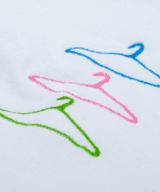 ハンガーセット ユニセックス Tシャツ 刺繍 拡大
