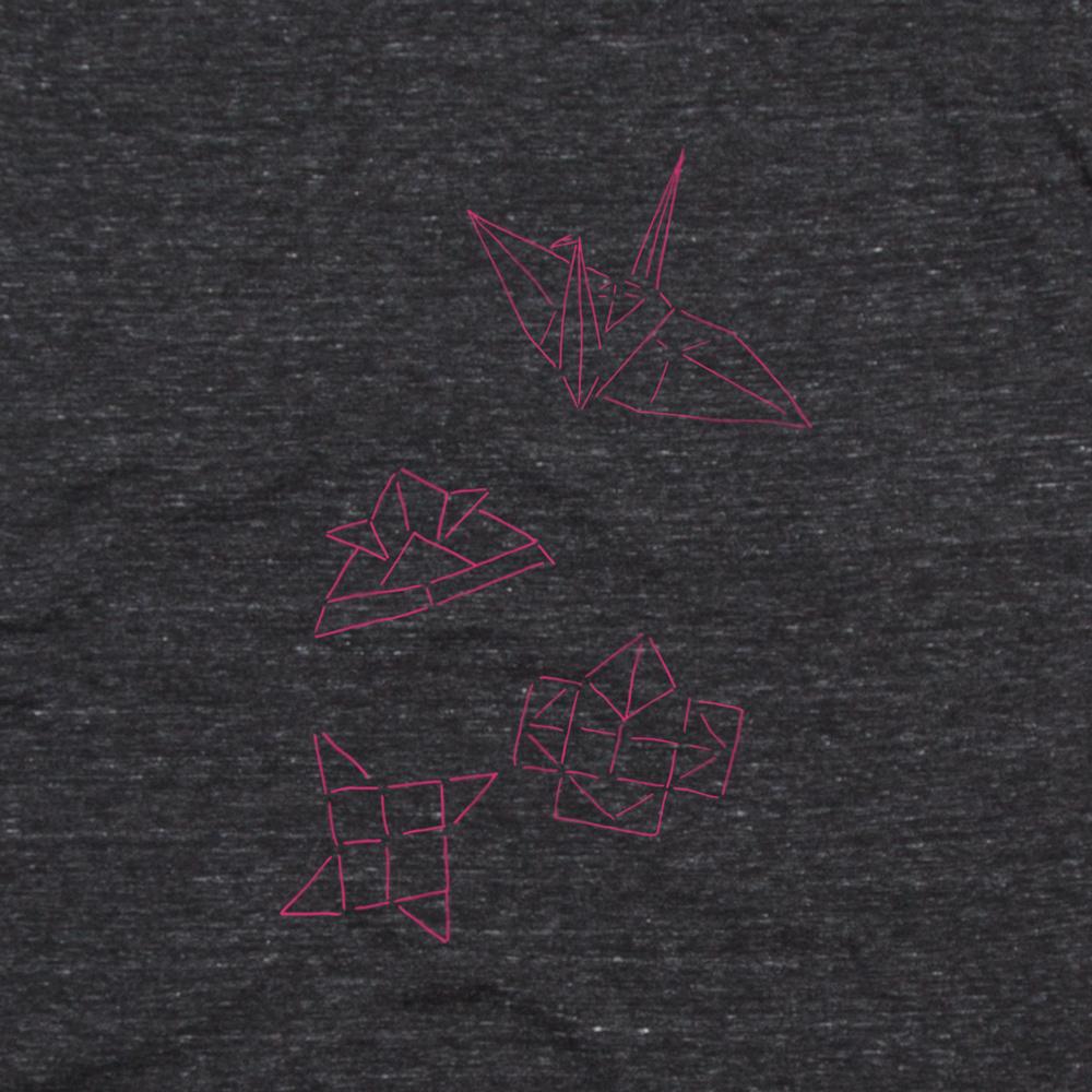 おりがみイラストTシャツ シルクスクリーン印刷拡大