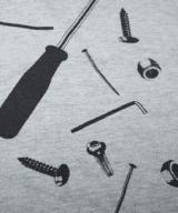 工具一式 ユニセックス Tシャツ シルクスクリーン印刷 拡大