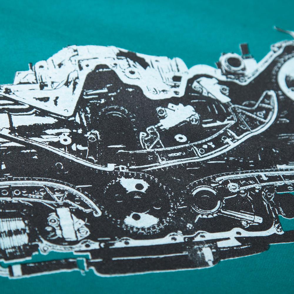 エンジンTシャツ シルクスクリーン印刷拡大