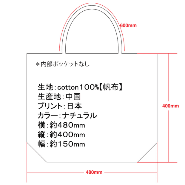 THIS IS A BAG. トートバック サイズ表
