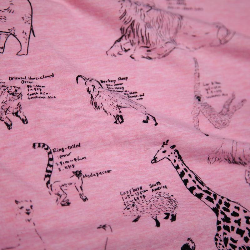 動物百科Tシャツ シルクスクリーン印刷拡大