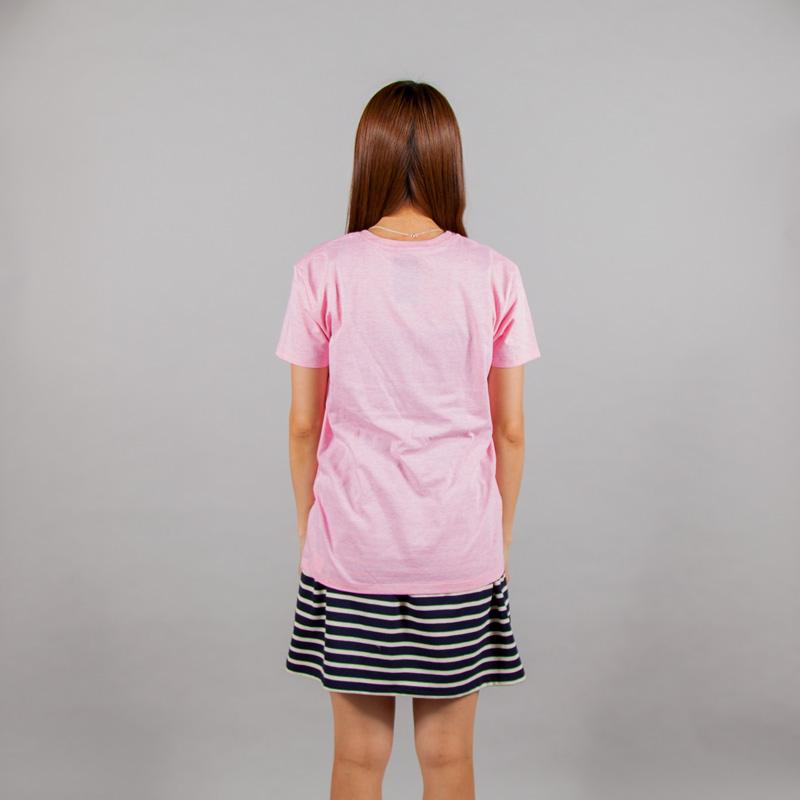 動物百科Tシャツ女性モデルうしろ