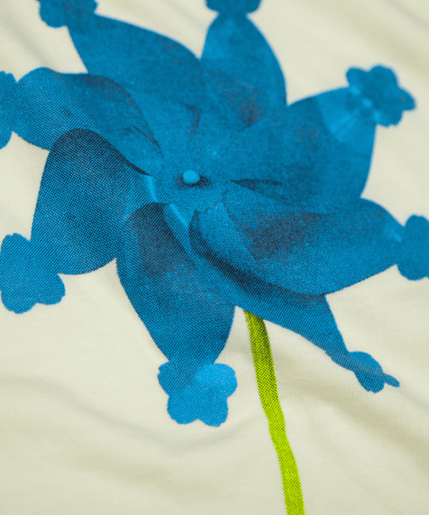 風車Tシャツ シルクスクリーン印刷拡大