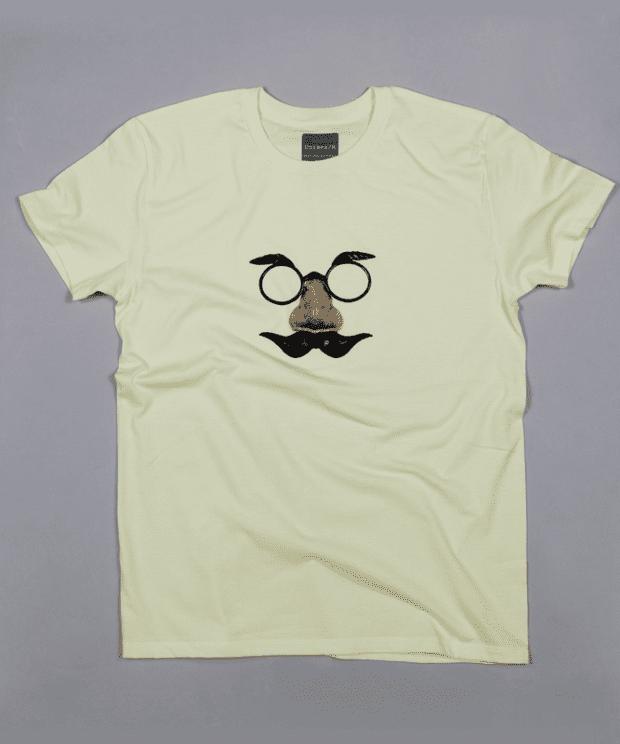 鼻眼鏡のおじさん Tシャツ