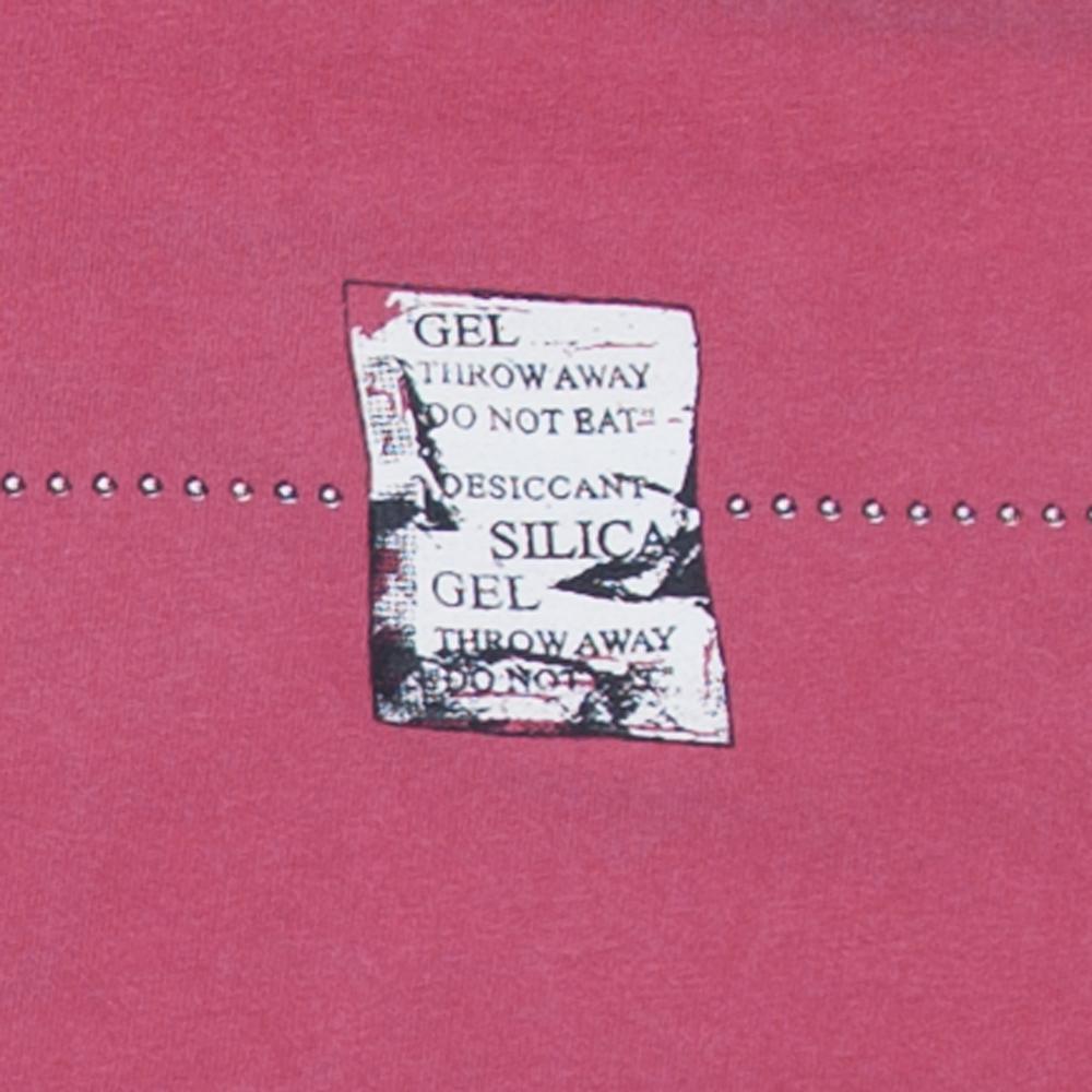 シリカゲル ユニセックス Tシャツ シルクスクリーン印刷 拡大
