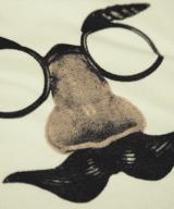 鼻眼鏡Tシャツ シルクスクリーン印刷拡大