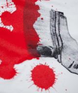 ペイントブラシTシャツ シルクスクリーン印刷拡大