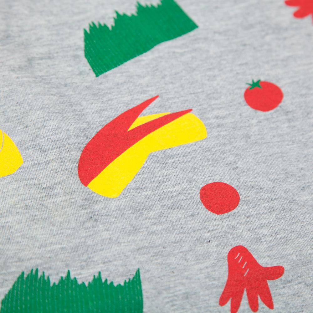 おべんとうビッグシルエットレディースTシャツ シルクスクリーン印刷 拡大