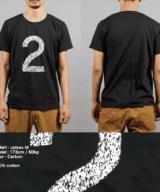 2Tシャツ男性モデル正面うしろ シルクスクリーン印刷拡大