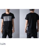 TVⅡ 2チャンネル デザイン Tシャツ 男性モデル正面うしろ