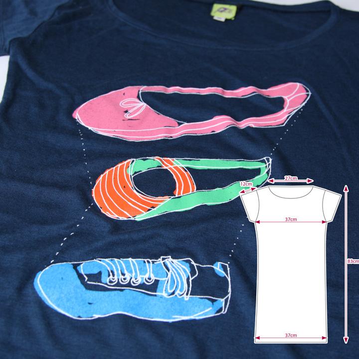 3シューズ イラスト Tシャツ サイズ表