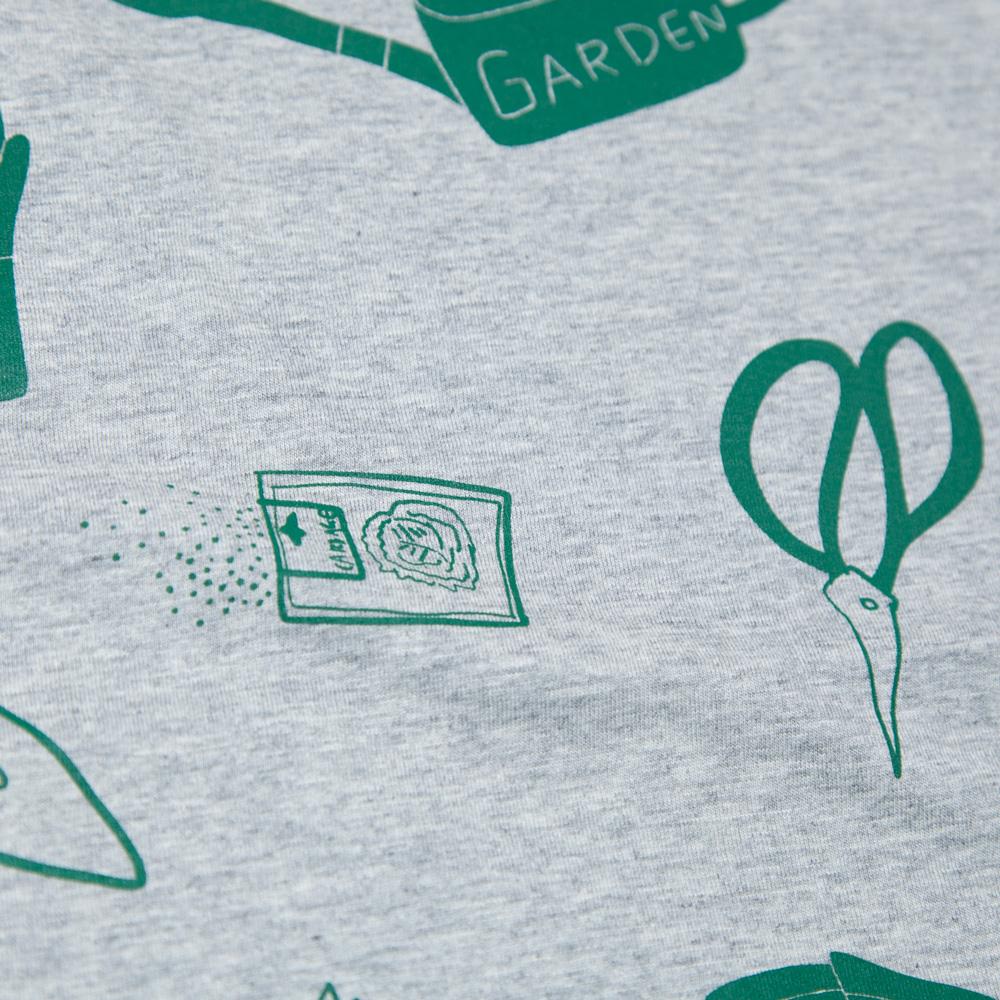 園芸ビッグシルエットレディースTシャツ シルクスクリーン印刷 拡大