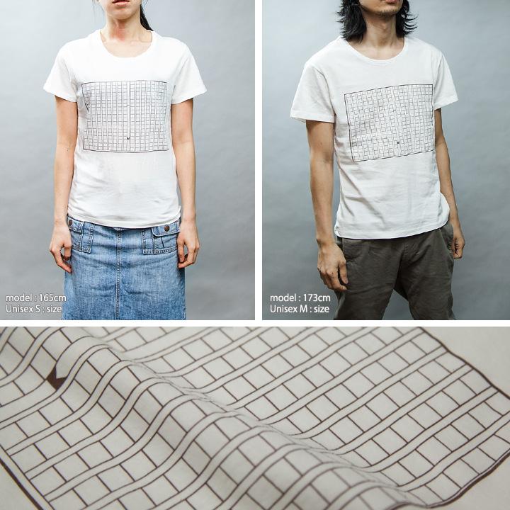 原稿用紙Tシャツ女性モデル正面男性モデル正面