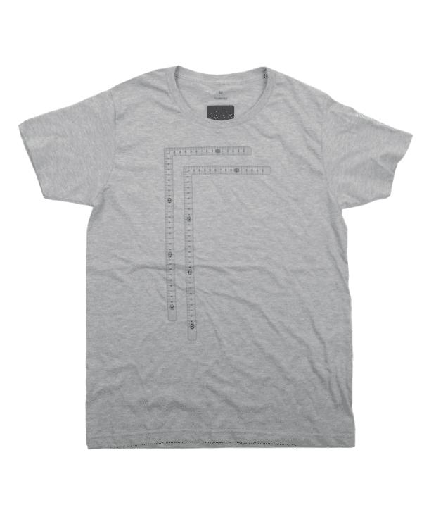 直角定規 おもしろTシャツ