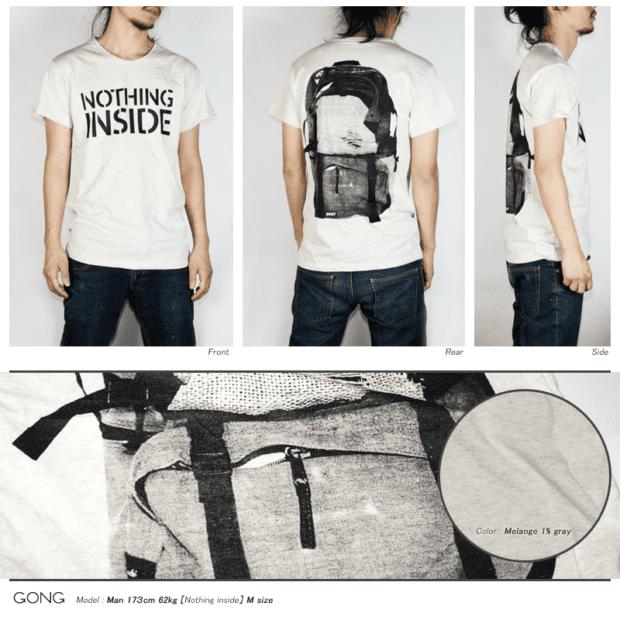 リュックサック デザインTシャツ 男性モデル正面うしろ横