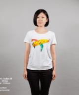 エアーフランスTシャツ女性モデル正面