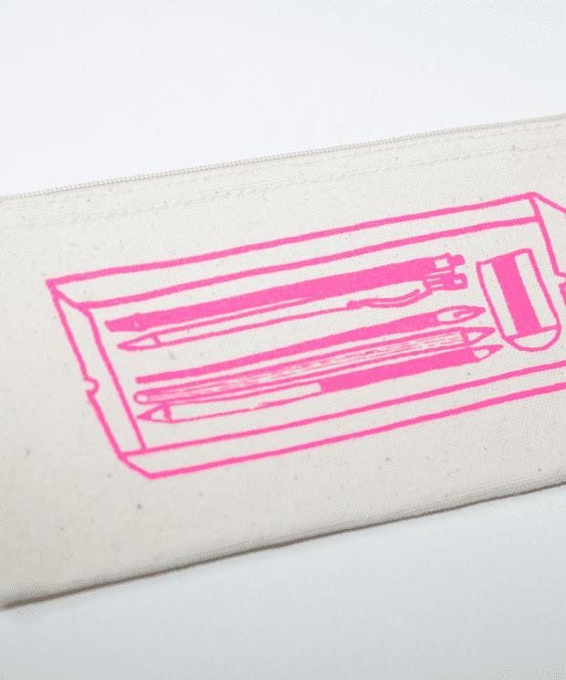 ペンケース シルクスクリーン印刷 拡大