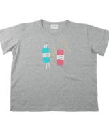 LINEN YARN ビッグシルエット レディースTシャツ シルクスクリーン印刷 拡大
