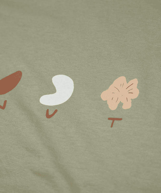 NUTS ビッグシルエット レディース Tシャツ シルクスクリーン印刷 拡大