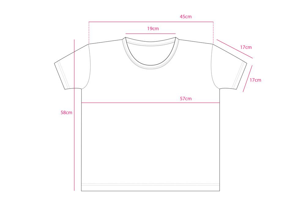 NUTS ビッグシルエット レディース Tシャツ サイズ表