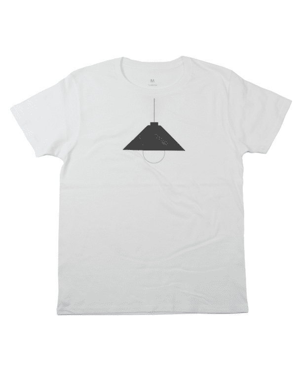 UV で電気が付く Tシャツ