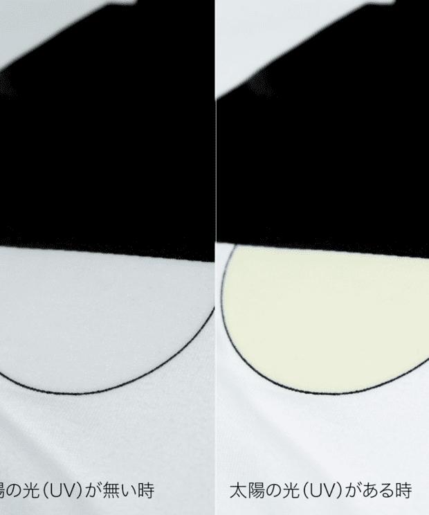 UVで電気が付く! 照明Tシャツ シルクスクリーン印刷 拡大