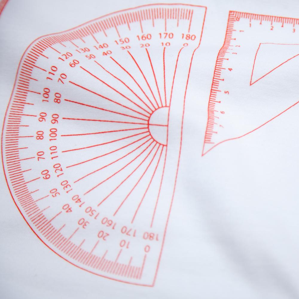 定規一式 ユニセックス プリント Tシャツ シルクスクリーン印刷 拡大