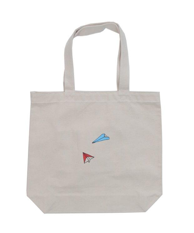 紙飛行機 キャンバス トートバッグ