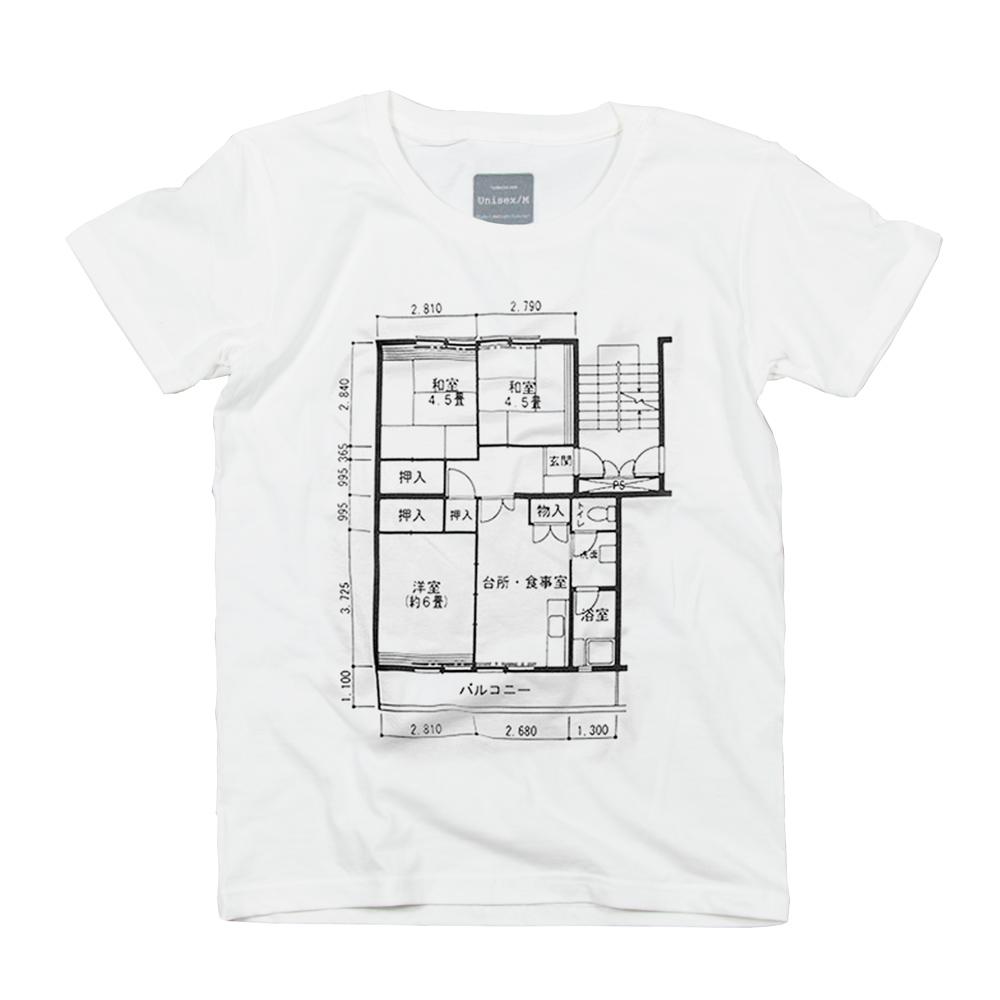 日本の間取り ユニセックス Tシャツ