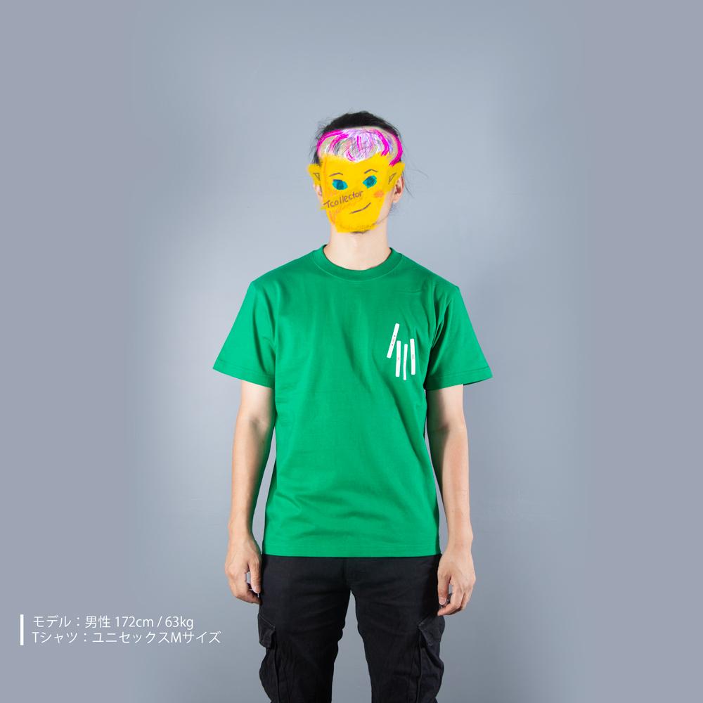 麻雀の点棒Tシャツ男性モデル正面
