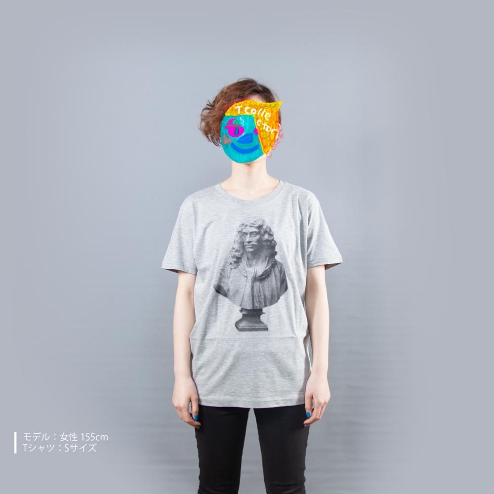 石膏モリエールTシャツ女性モデル正面