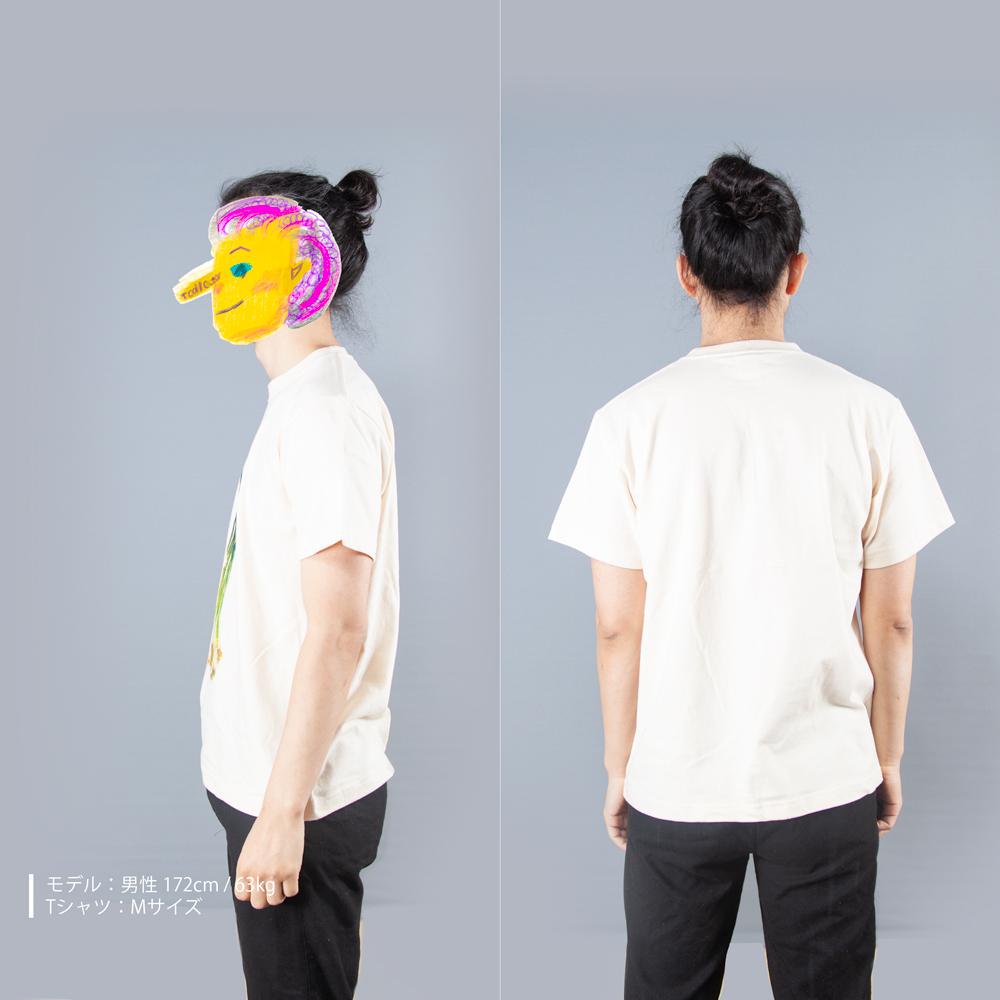 長ネギTシャツ男性モデル横後ろ