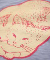 猫 ユニセックス Tシャツ シルクスクリーン印刷 拡大