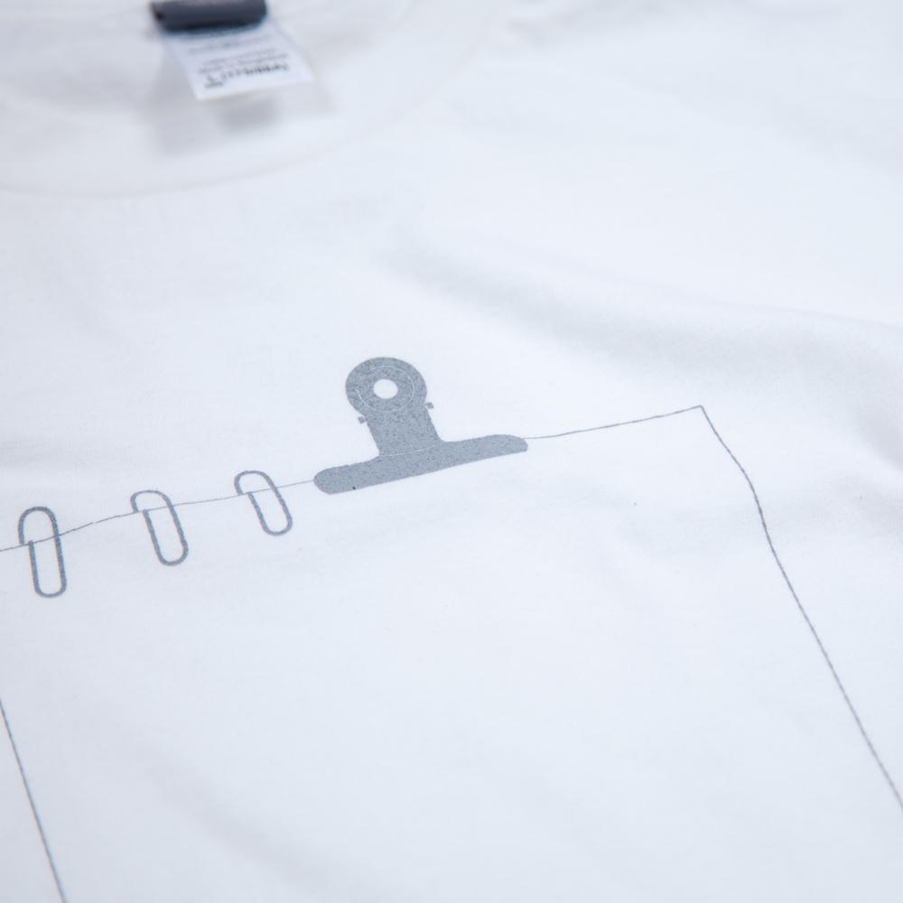 クリップの書類 ユニセックス Tシャツ シルクスクリーン印刷 拡大