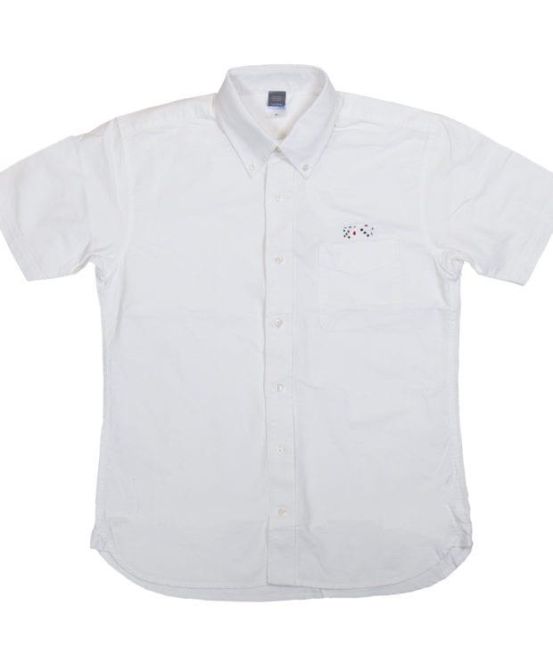 サイコロ 刺繍 オックスフォード シャツ