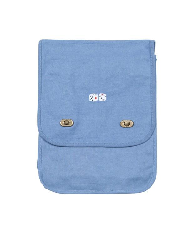 サイコロ 刺繍 ショルダーバッグ