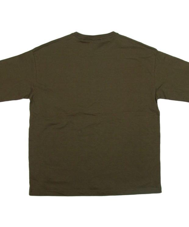 サイコロ 刺繍 ビックシルエット ポケットTシャツ バック