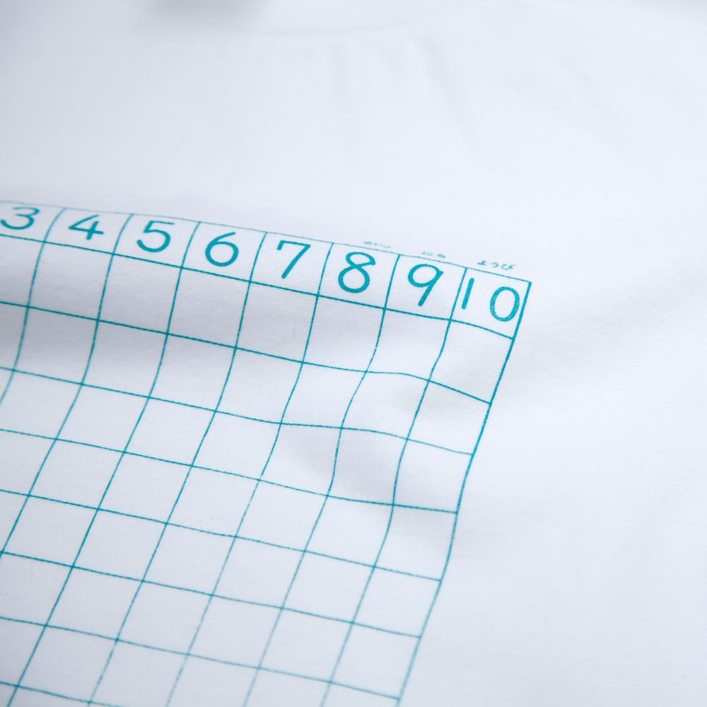 さんすうノート ユニセックス Tシャツ シルクスクリーン印刷 拡大